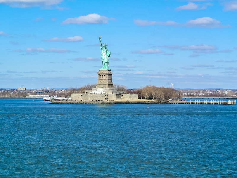 The Statue of Liberty, the symbol of a new beginning for us