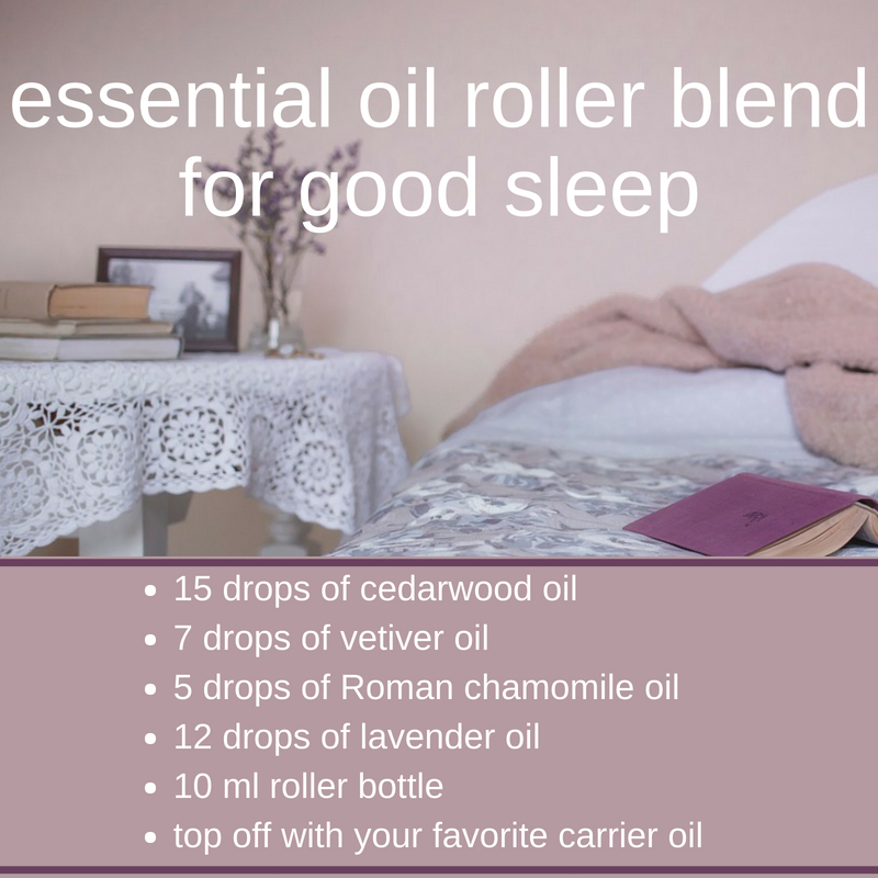 Essential oil roller blend for good sleep
