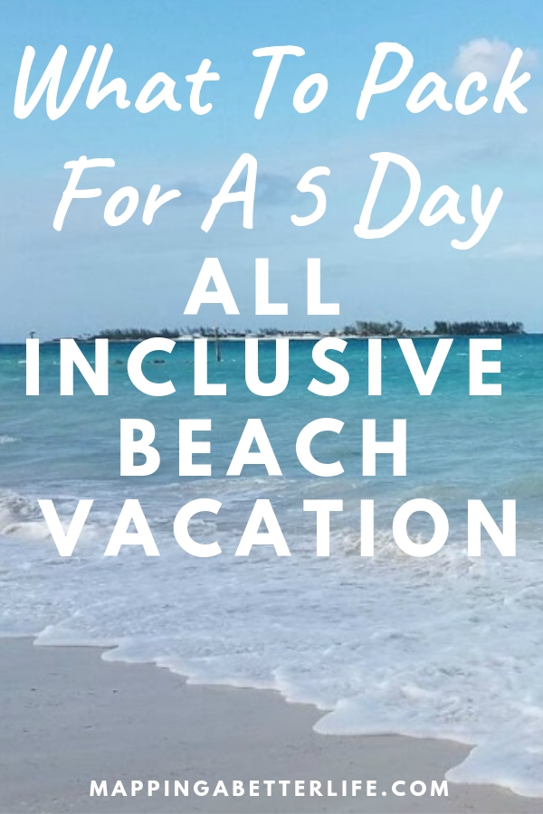 Ready for some time at the beach? Here's what to pack for a 5 day beach vacation at an all inclusive resort. #beach #vacation #Jamaica #allinclusive #resort #beachvacation #Caribbean